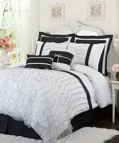 Take a look at this White Romana King Comforter Set by Lush Décor on #zulily today!