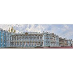 Catherine Palace courtyard Tsarskoye Selo St Petersburg Russia Canvas Art - Panoramic Images (18 x 6)