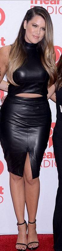 Khloe Kardashian: Skirt – Reiss  Shoes – Saint Laurent  Shirt -A.O.T.C.