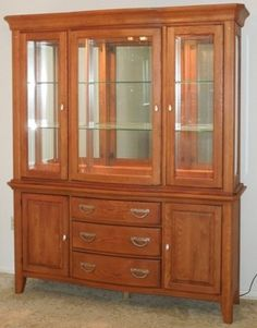 china cabinets on sale | 600 OBO Solid Oak China Cabinet for Sale in Warner…
