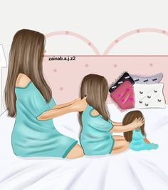 No more babies for me though. Unless its a huge surprise lol Mother And Daughter Drawing, Mother Daughter Quotes, Mother Art, Mother And Child, Mother Daughters, Love Mom, Daughter Love, Mothers Love, Sarra Art