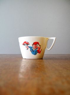 Vintage Ornamin Melamine Plastic Gnome Cup by luola on Etsy, $15.00 Play Houses, Kids Furniture, Bats, Gnomes, Attic, Kids Room, Barware, Mid Century, Lofts