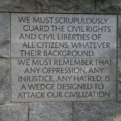 FDR Memorial on Washington, DC. So many great quotes are carved into the granite at this wonderful memorial.