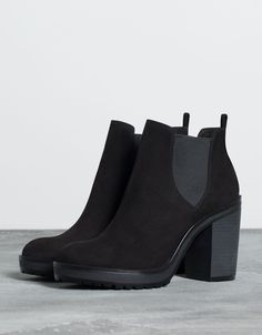 Bershka United Kingdom - Bershka elastic heeled ankle boot