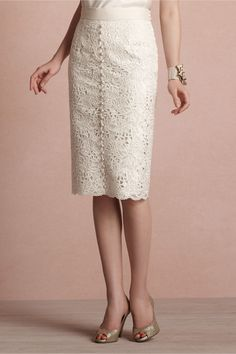 English Embroidery Skirt from BHLDN