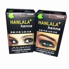 8641d70d9 HANLALA Professional Henna Color Cream for Eyebrows Tint Kit Set Natural  Henna Eyebrow Dye Brown Black Henna Para Sobrancelha