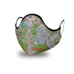 Premium Cotton Face Mask - Magic Kingdom Map Magic Kingdom Map, Disney World Magic Kingdom, Face Masks, Fans, Cotton, Facials