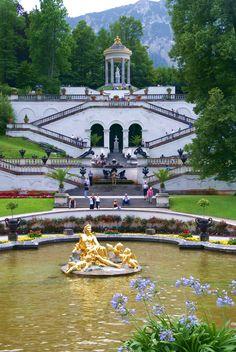 Garden of Castle Linderhof, near Oberammagau. Germany - must stop here!