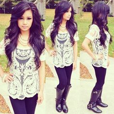 Hair and Outfit