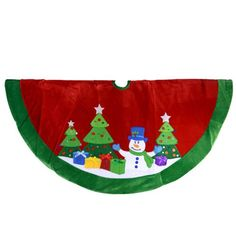 48 Red Velvet Tree Skirt with Snowman and Applique - List price: $71.50 Price: $36.67 Saving: $34.83 (49%)