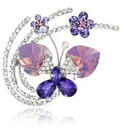 Fluid Butterfly Swarovski Elements Crystal Brooch Pin (Purple) 4016801 Arco Iris Jewelry,http://www.amazon.com/dp/B005QSZZ9C/ref=cm_sw_r_pi_dp_NO63rb0K7DY3T5Z1
