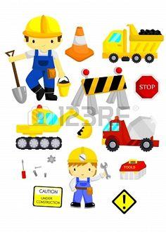 Construction Vector Set Stockfoto - 21703519