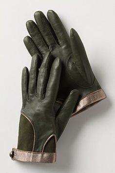 gloves with color and texture contrast