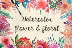 Check out 159 Watercolor flowers & florals by Julia's Dreams on Creative Market