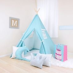 We just LOVE how this Coastal Blue w/White Mini Dot Teepee reminds us of good times at the beach with the family. So relaxing and easy to the eyes! Get yours now at http://teepeejoy.com?utm_content=buffera7e51&utm_medium=social&utm_source=pinterest.com&utm_campaign=buffer
