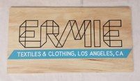 Hand painted Ermie sign on natural wood, Los Angeles, CA  by L Star Murals www.Lstarmurals.com