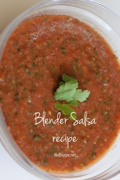 Delicious and nutritious homemade blender salsa