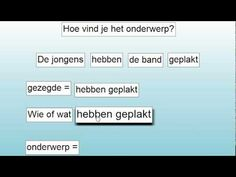 ▶ Hoe vind je het onderwerp? - YouTube Learning To Be, Grammar, Classroom, Teaching, School, Learning, Dutch Language, Class Room, Education