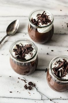 Chocolate Espresso Custard. #Desserts #Coffee #ShermanFinancialGroup