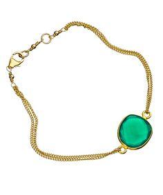 Green Onyx Double Chain Lana Bracelet