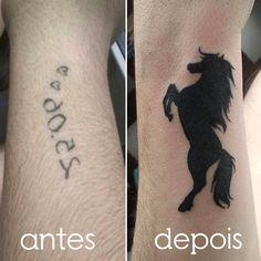 Por Teena Leite #tattoo #tatuagem #line #tatuagemdelicada #tatuagemfeminina #feminina #cavalo #horse #coverup #cover #up #linhafina #fineline #ornamental #ornamentais #love #delicadas #femininas