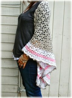 @ Coco Rose Diaries: Lovely version of the South Bay Shawlette - free pattern here: http://www.lionbrand.com/patterns/90489AD.html