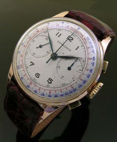 Orologio Longines Vintage in oro Cronografo 1930 Antique Watches, Vintage Watches, Retro Mode, Skeleton Watches, Beautiful Watches, Elegant Watches, Luxury Watches, Watches For Men, Gold Watches