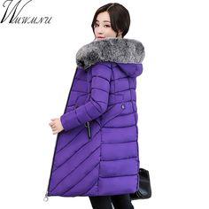 Wmwmnu New Winter Coat Women 2017 Thick Warm Winter slim Jackets Female Fur Collar Hooded Parka Coat Plus Size 3XL Outerwear
