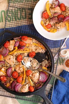 Cajun chicken one pot rice bake. An easy , one pot week night meal, just throw all the ingredients together  www.alifeofgeekery.co.uk
