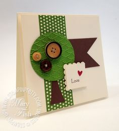 stampin up tree card by mary fish!