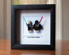 Star Wars Framed Mini Figures Han & Leia made by PrettyPeculiarUK