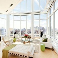 Sculpture For Living is one of the most gorgeous penthouses with breathtaking views of Manhattan.