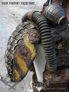 Post Apocalyptic costume details. SALVAGED Ware by Mark Cordory Creations www.markcordory.com