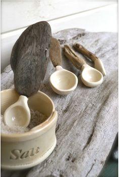 Cucharitas cerámica y madera