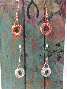 2-Pair Möbius Flower Chainmaille Earrings by WishboneRepublic