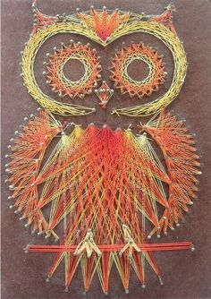 another string art owl