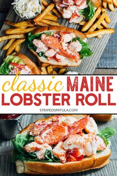 Classic Maine Lobster Rolls Enjoy a taste of New England at home with this Maine lobster roll recipe! With just a few easy steps, you'll can make a classic lobster salad roll, just like the ones served on the coast. Lobster Roll Recipes, Seafood Recipes, Lobster Rolls, Dinner Recipes, Cooking Recipes, Healthy Recipes, Lobster Salad Roll Recipe, Shellfish Recipes, Holiday Recipes