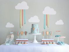 HOT AIR BALLOON FIRST BIRTHDAY PARTY was submitted by Mariana Carvalho of Peace of Cake in Portugal.