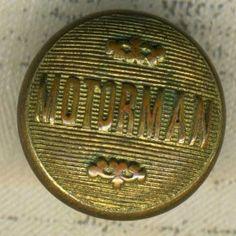 Vintage Brass Railroad Uniform Button