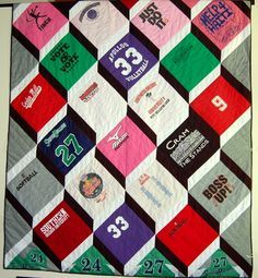 a t-shirt quilt that's actually interesting