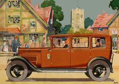 Austin Cars Vintage Advertising 1930s Print by mattyhandmadecrafts