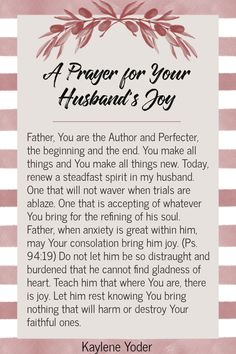Prayer For My Marriage, Prayer For My Family, Marriage Bible Verses, Praying For Your Husband, Prayer For You, Prayer Scriptures, Bible Prayers, God Prayer, Daily Prayer
