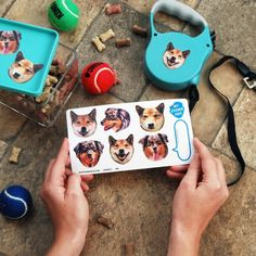 These custom stickers for your niece who always wants to put her dog's face on everything. | 32 Gifts For People Who Are Obsessed With Their Pets