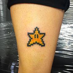 Super Mario 8bit  #tattoooldschool23 #startattoo #supermariobros #supermariotattoo by pac_tattooer_