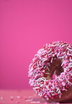 #pink #donut #sprinkles