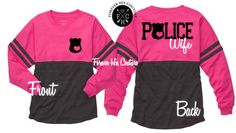 Police Wife Police Girlfriend Pom Pom Jersey by ForeverHisCouture