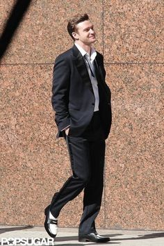 """Justin Timberlake on the Set of """"Suit & Tie"""""""