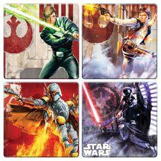 Star Wars 4-pc Wooden Coaster Set