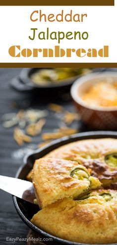 Cheddar Jalapeno Cornbread is the perfect addition to a pot of soup or chili! #ad - Eazy Peazy Mealz