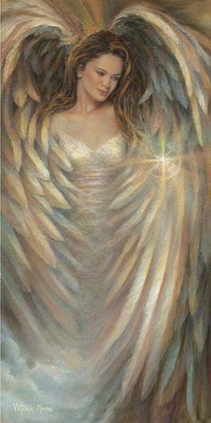 ** ☆ Eternal Elegance :¦: Artist Victoria Moore ☆ -- love her wings! Guardian Angels, Angels Among Us, Angels And Demons, Victoria Moore, Angel Drawing, I Believe In Angels, Ange Demon, Saint Esprit, Encaustic Art
